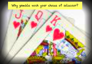 Why gamble on your choice of conveyancing solicitor